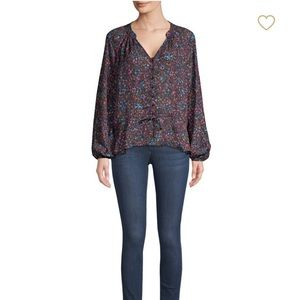 Parker Rosalind Silk Blend Button Front Blouse